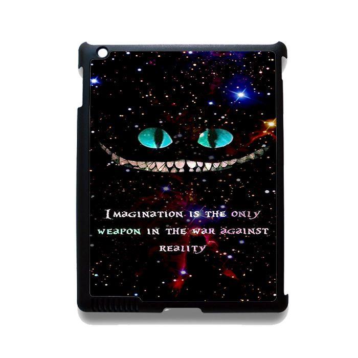 Alice In Wonderland Cheshire Cat Quote Phonecase Cover Case For Apple Ipad 2 Ipad 3 Ipad 4 Ipad Mini 2 Ipad Mini 3 Ipad Mini 4 Ipad Air Ipad Air 2