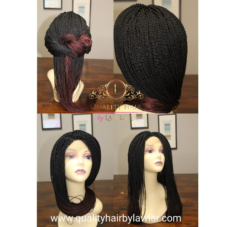Fully hand braided lace front wig- Senegalese twists- Ombre color #1/#35 in Calgary, Alberta Canada  Free US & CANADA shipping  #braids #hair #hairstyle #braidedwig #braidedlacewig #senegalesebraids