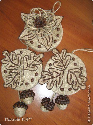 Кофейные панно , желуди сделаны по МК Lianamur, за что ей большущее спасибо! фото 1