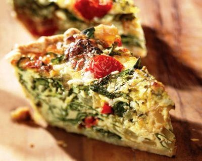 Garden Vegetable Quiche; had this today... great healthy food option :)