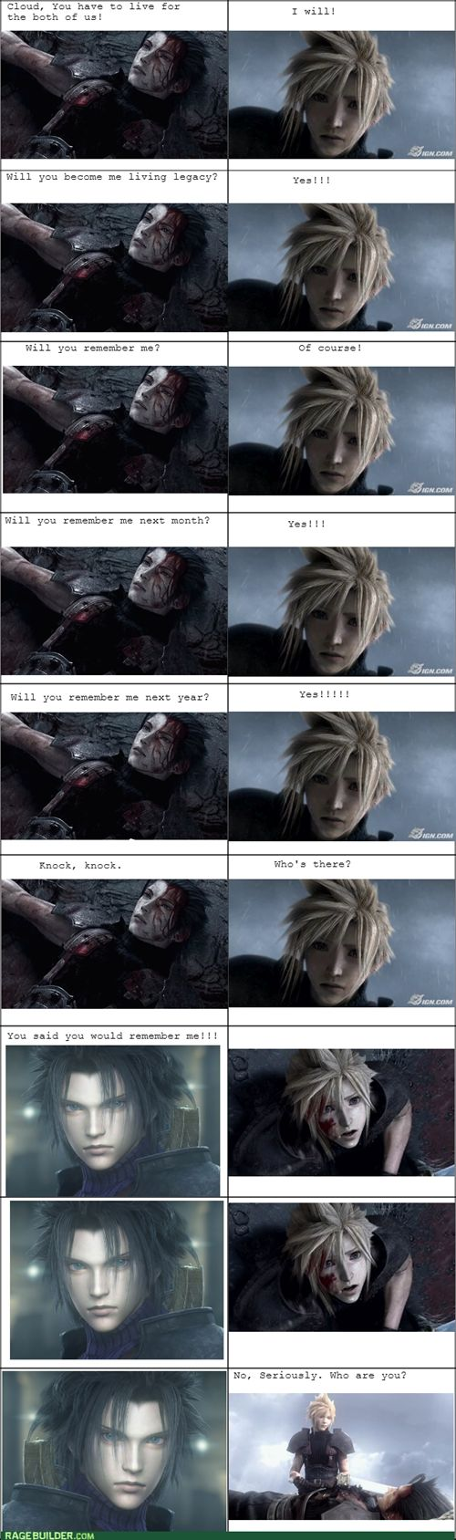 Zack's Dying Wish ..I should have have laughed as hard as I did at this.  Its wrong and yet so accurate when you think about it....lol