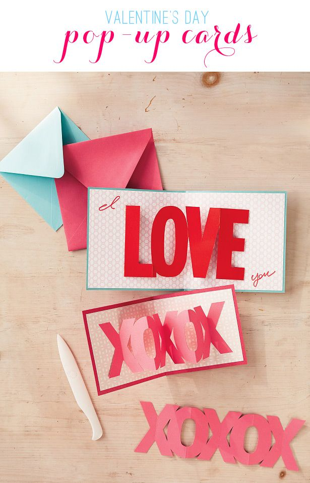 valentine's day pop out cards diy