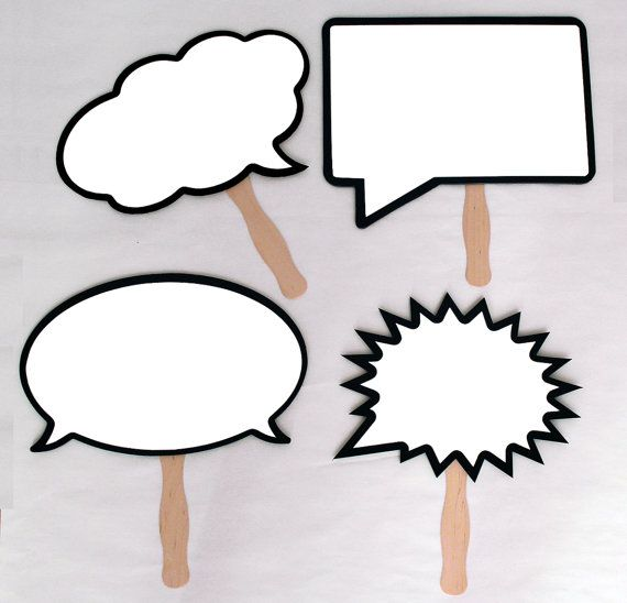 11 inch Dry Erase Speech Bubble Boards with Handles. Black Marker Included. Waterproof and Durable. For Photo booth and Photo Props.