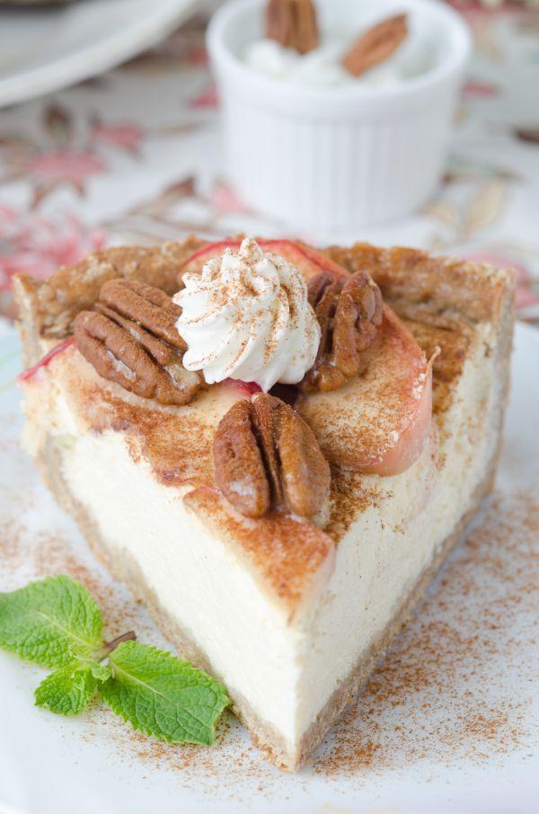 Jablkový cheesecake so škoricou - Recept pre každého kuchára, množstvo receptov pre pečenie a varenie. Recepty pre chutný život. Slovenské jedlá a medzinárodná kuchyňa
