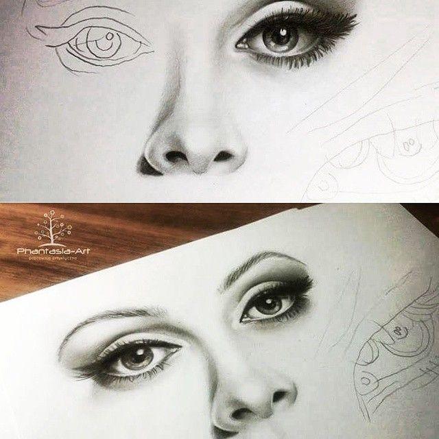 Drawing by ~Katarzyna Dumka More drawings on instagram K.dumka #eye #eyes #how #draw  #drawing #adele #phantasiaart