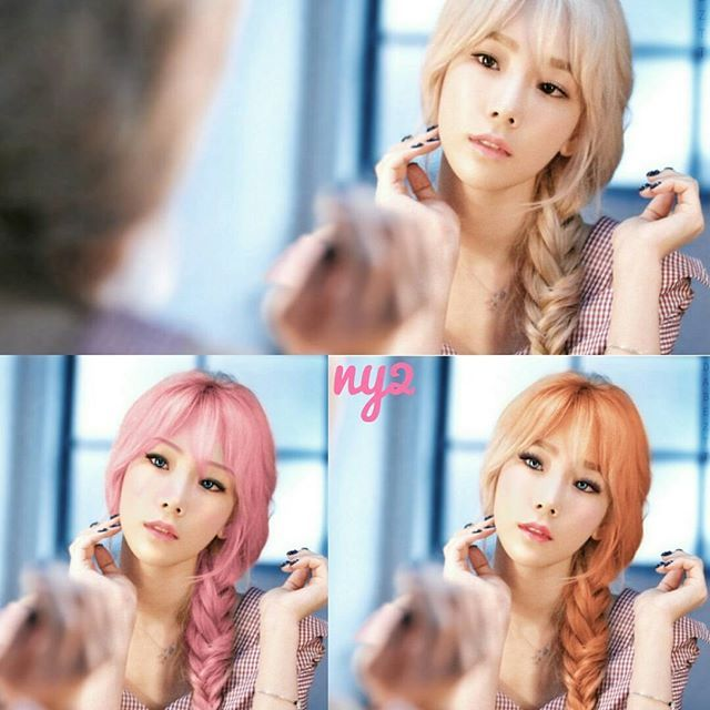 taeyeon eonni hair changer 💆💇👱😁 🌸 #girlsgeneration #gg #snsd #soshi #makeup #hairstyle #hair #koreangirl #kpop #snsdfanart #taeyeon #sunny #tiffany #hyoyeon #yuri #sooyoung #yoona #seohyun #photoshop ##blonde #pink #hazelnut #orange #art #arts #autodesksketchbook #태연 #소녀시대 😸