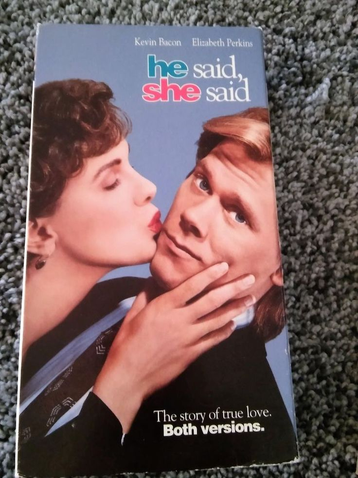 He Said, She Said (VHS, 1991) Kevin Bacon Elizabeth Perkins GUC Box is Worn