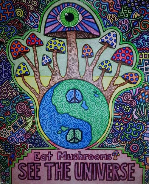 ॐ American Hippie Take a Trip Psychedelic Art Quotes ...