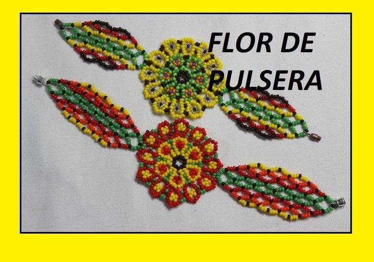 COMO HACER PULSERA DE FLOR//aretes collares pulseras