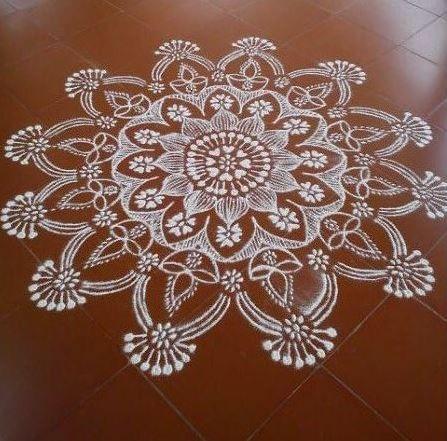 Simple Kolam Designs for Ganpati