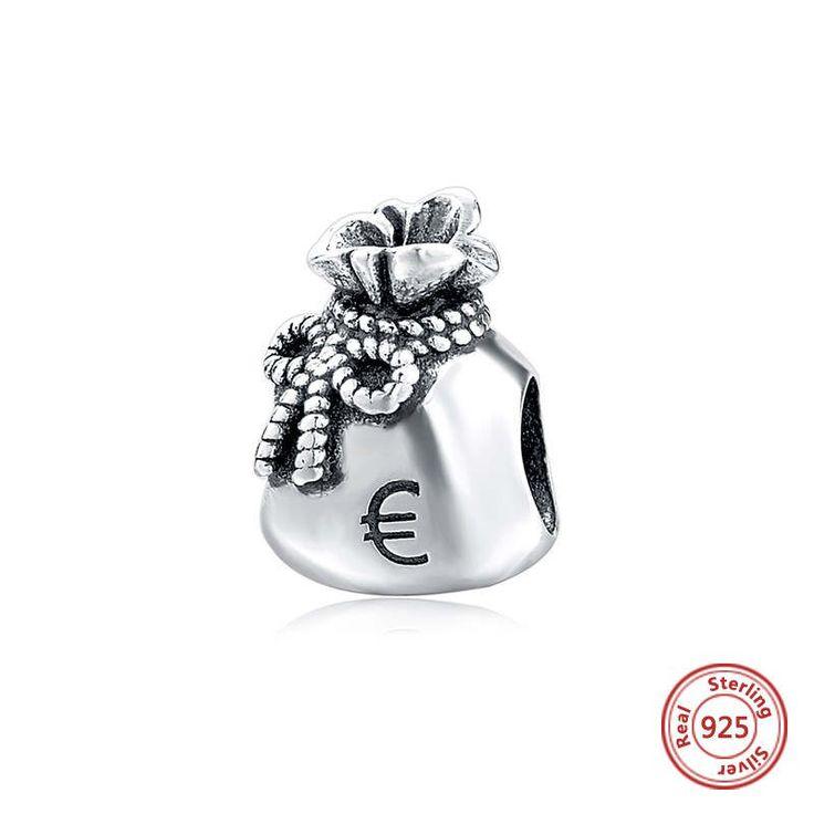 Sacco rigonfio di monete 100%argento sterling 925 adatta misure Pandora charm Pandora bead Braccialetto europeo di OceanBijoux su Etsy