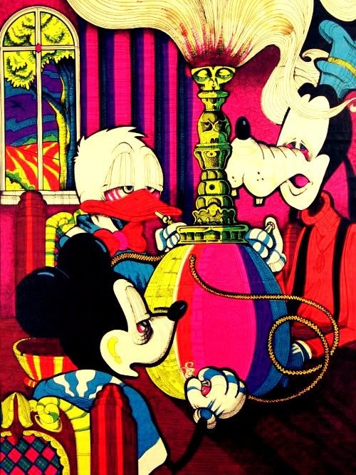 Mickey, Goofy and Donald STONED! Love this poster, had it in 75 but it was for blacklight