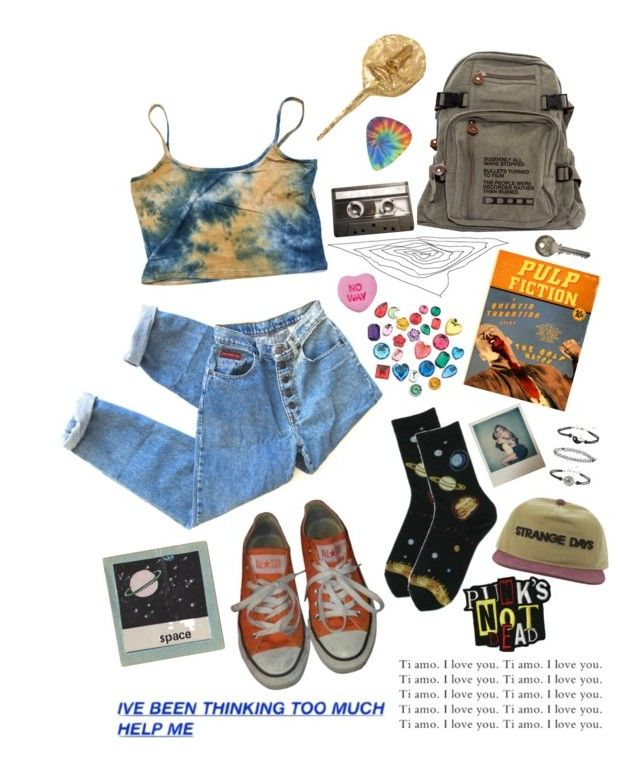 """""""not a joke"""" by uxly ❤ liked on Polyvore featuring Converse, CASSETTE, Kelly Wearstler and Polaroid"""