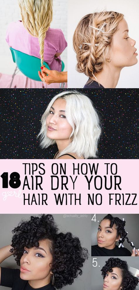how to make hair air dry wavy
