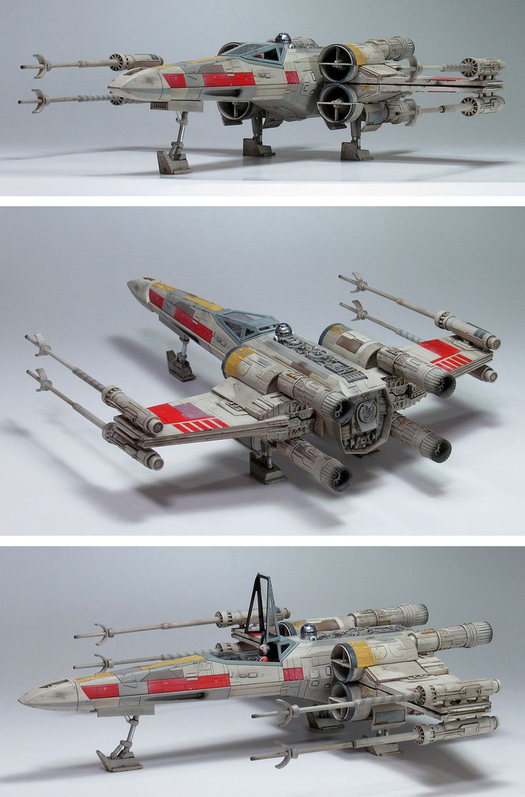 G-CUBE's Bandai x Star Wars 1/48 X-Wing Starfighter Moving Edition: A Beautiful Photo Review! Links, Info http://www.gunjap.net/site/?p=289663