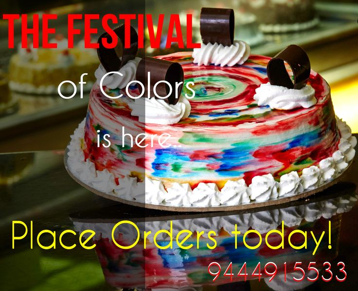 The festival of colors is here.... Find more #Christmas and #Newyear Special cakes available in #Chennai and #Bangalore.  #Christmascake #Photocakes #Birthdaycakes For more: http://www.cakepark.net/ Call us: +91-44-4553 5532