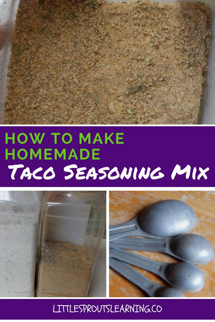 Making your own homemade taco seasoning mix is easy and delicious and healthier than store bought mixes with additives and chemicals.