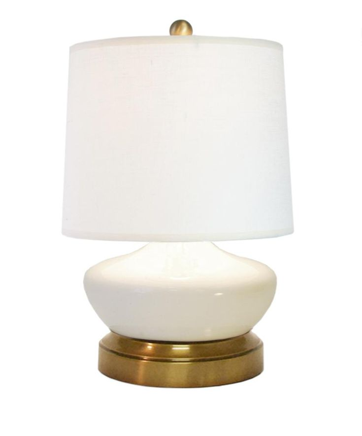 Bella Ivory Ceramic With Brass Cordless Battery Operated Mini Lamp Cordless Lamps Cordless Table Lamps Lamp