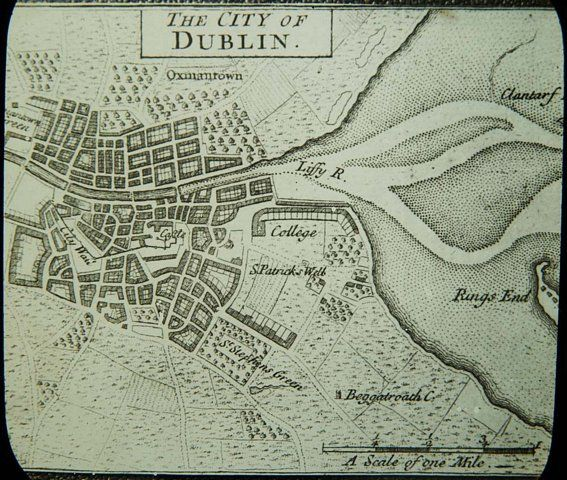 The first published map of Dublin