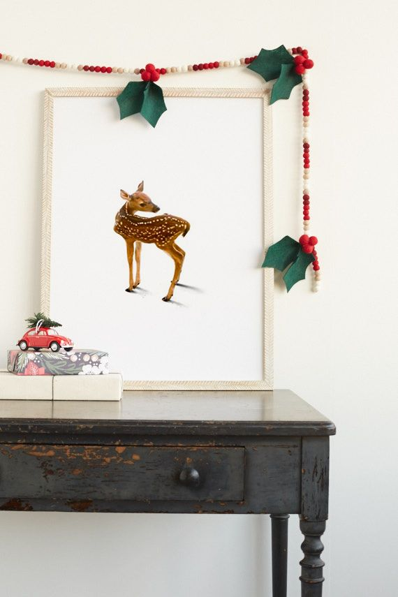 DIY: Felt Holly Garland | Julep