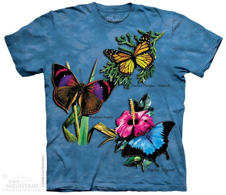 Blue tie-dye butterfly t-shirt by The Mountain® - Free UK Delivery