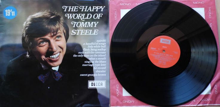 THE HAPPY WORLD OF TOMMY STEELE. TOMMY STEELE. DIE CUT, 'MONO/ STEREO,' HOLE ON THE BACK. INCLUDES THE ORIGINAL, RED, 'MONO,' INNER SLEEVE. The Only Man On The Island. Rock With The Caveman. CLASSIC, ORIGINAL, BRITISH, 1969 ISSUE. | eBay!
