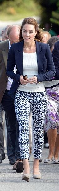 Only she could wear though pants and look gorgeous.
