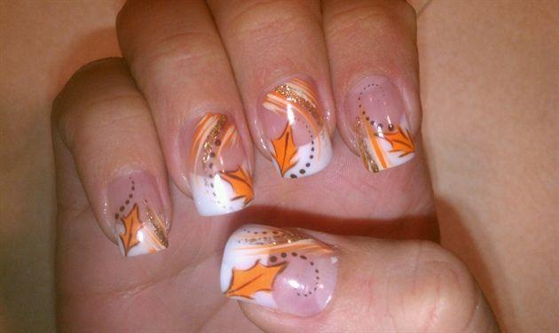 Fall Leaves by doms_hottnails - Nail Art Gallery nailartgallery.nailsmag.com by Nails Magazine www.nailsmag.com #nailart