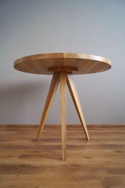 """Stół """"Just Oak 3""""  (śr.100cm) w Pracownia EMBE na DaWanda.com"""