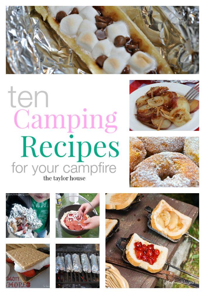 Recettes Campfire, recettes, recettes de camping d'été, les voyages de camping