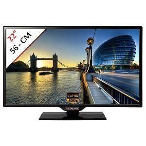 Télévision 56 cm TV LED Ecran LCD Moniteur PC Full HD 1080p Redline