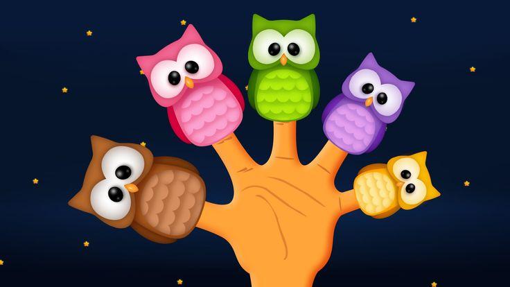 The Finger Family Owl Family Nursery Rhyme   Owl Finger Family Songs