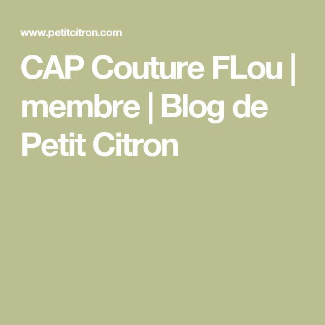 CAP Couture FLou | membre | Blog de Petit Citron