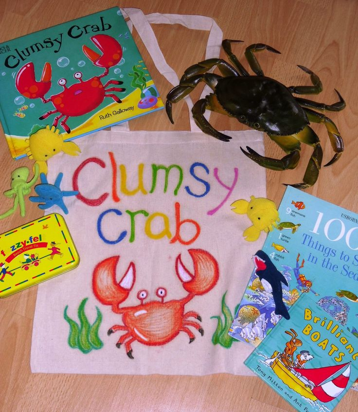 Sea shore resources and stories to support the Clumsy Crab story. You could collect shells and seaweed from the shoreline too.