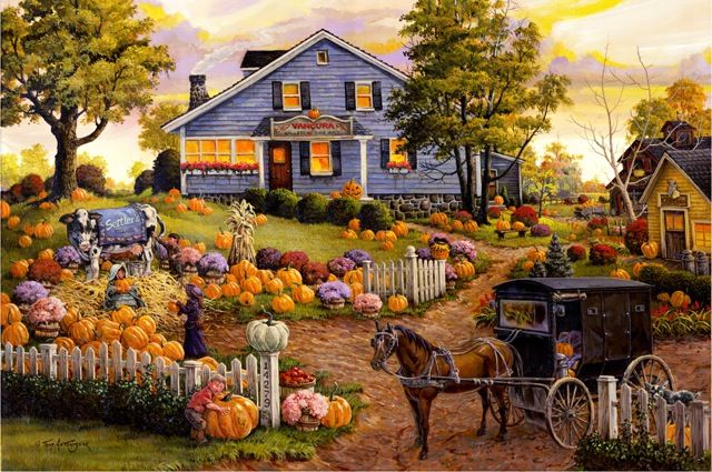 'The Cow and Pumpkin' ~ Tom Antonishak