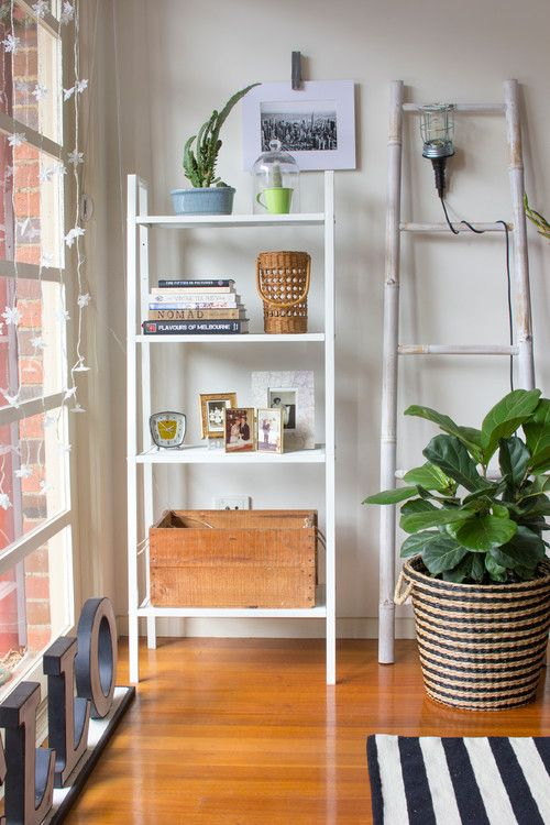 Mix up textures when you're styling a shelf to have your display looking great