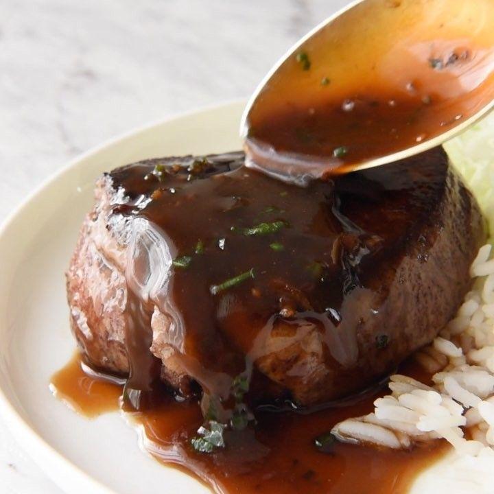 Filet de boeuf accompagné d'une sauce brune aux saveurs exquises - Recettes - Ma Fourchette