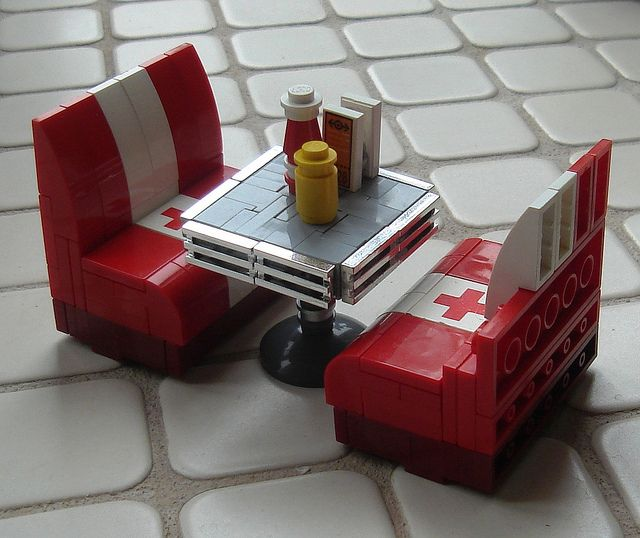 cute! lego diner tables!