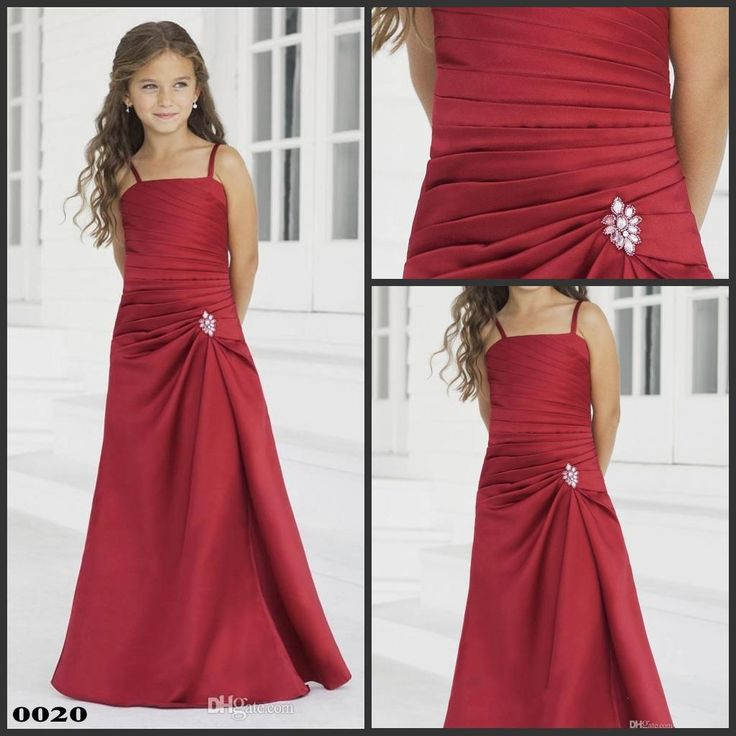 Flower Girl Dress Canada Junior Bridesmaid Dress Spaghetti