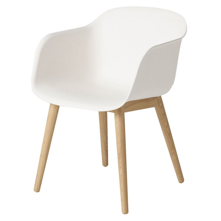 Fiber Wood stol, vit/ek i gruppen Möbler / Stolar & Pallar / Stolar hos RUM21.se (131632)