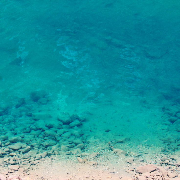 Ya, that's blue water.