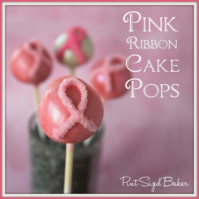 Pink Ribbon Cake Pops for Breast Cancer Awareness.