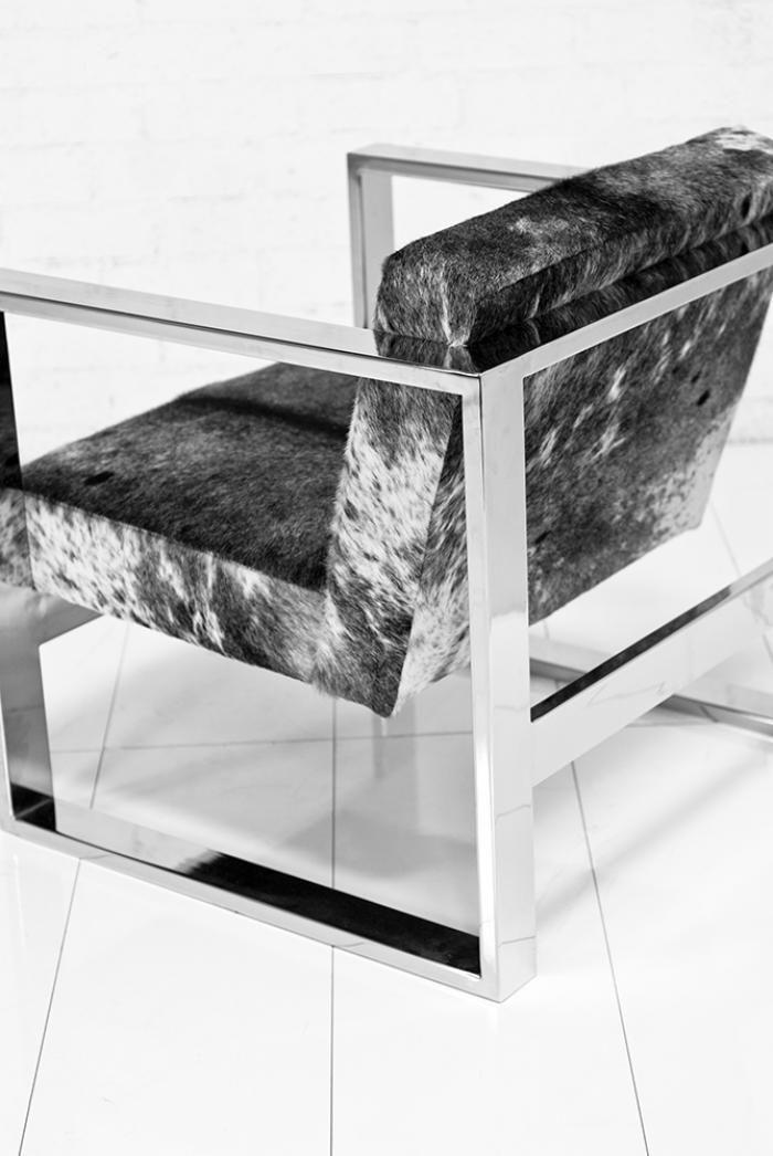 Fat U-Leg Cowhide Chair | Room Service Store