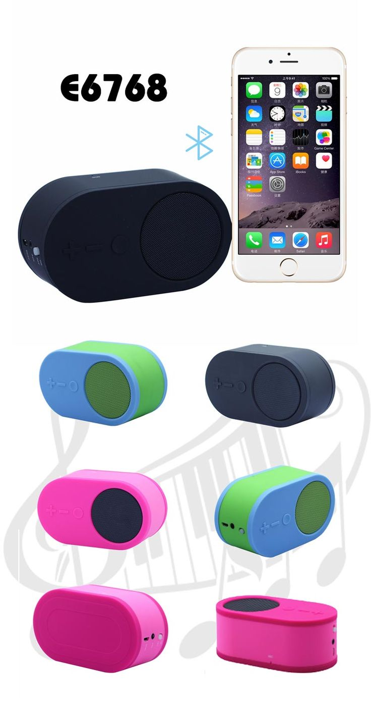 Mini Portable Bluetooth Speaker  Description:     * speaker for pc/tablet/smart phone * Bluetooth V2.1+EDR Class2 A2DP * Frequency: 2402~2480MH *Frequency response: 100HZ~20KHz * Playing time: about 4 hours *Capacity: 600mAh *Material: PC+ silicone *Size: 11.4*6.5*4.7cm *Color: black, red, blue, light blue, etc. www.ideagroupigm.com