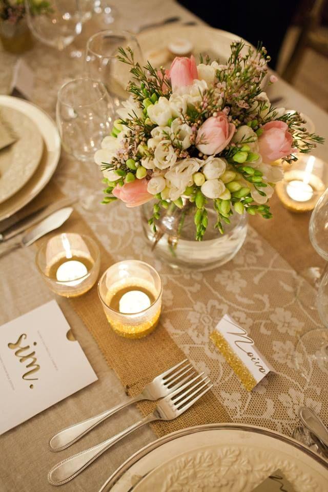 Golden inspired wedding table