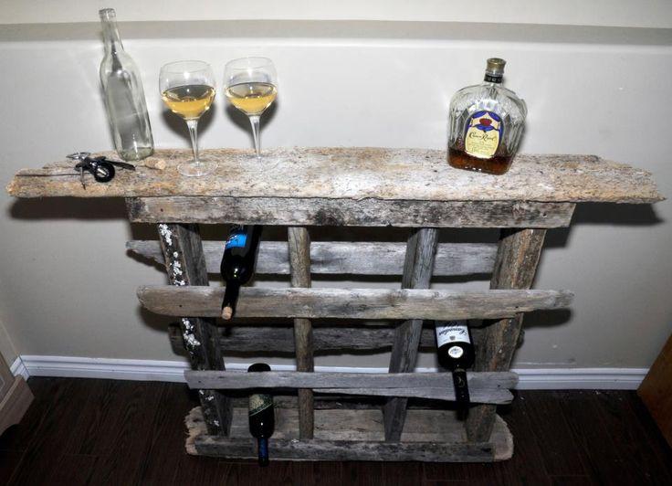 Homemade wine rack wood pallet ideas pinterest for Easy homemade wine rack