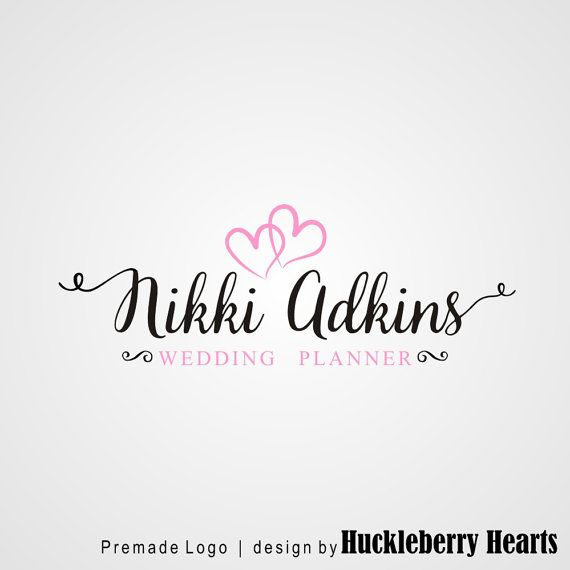 Premade Logo Logo de planificador de boda, boda fotografía logotipo, tipografía…