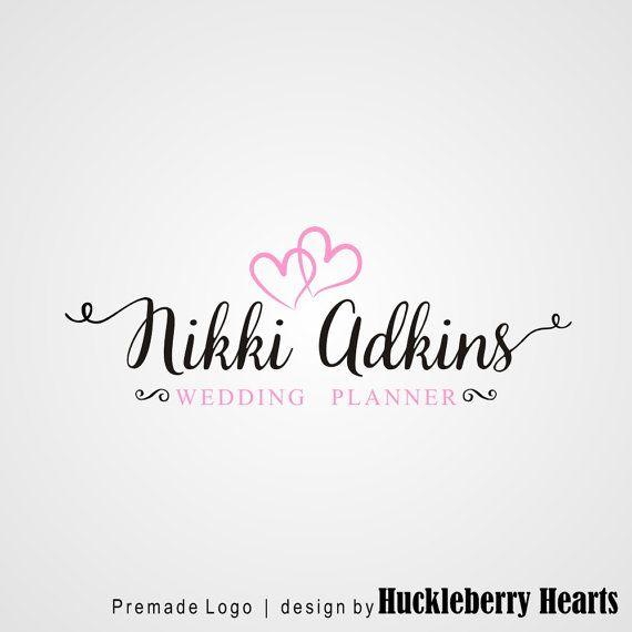 Premade Logo Wedding Planner Logo Wedding by HuckleberryHearts