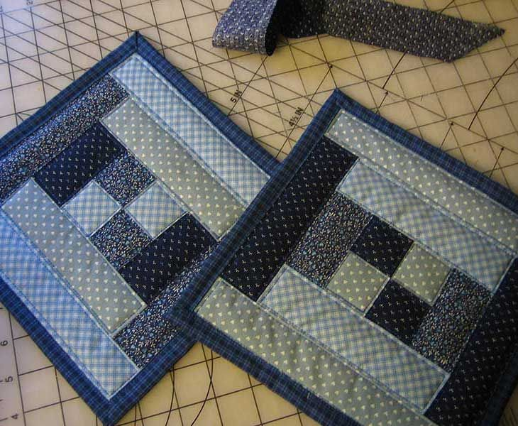 quilted potholder patterns | Quilted by stitching near the edges. I'm going to sew some loops on by ...