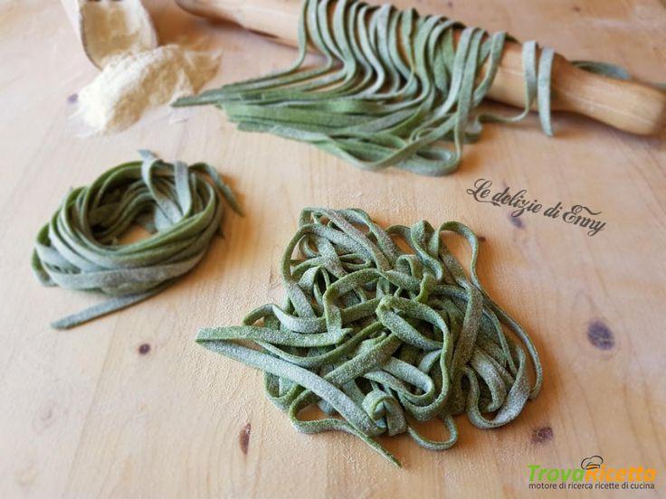 Tagliatelle verdi con spinaci  #ricette #food #recipes